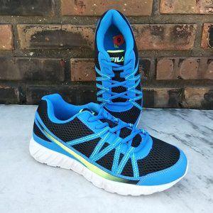 FILA Shoes Blue Black Neon Green Sneakers